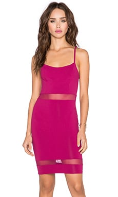 Donna Mizani Mini Cami Dress in Berry