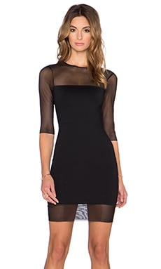 Donna Mizani Half Sleeve Mini Dress in Black