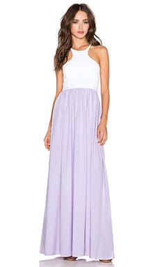 Donna Mizani x REVOLVE Racer Front Gown & White in Orchid Hush
