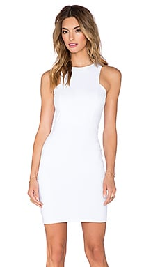Donna Mizani Front Panel Mini Dress in White