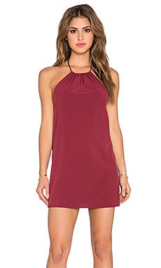 Donna Mizani Halter Mini Dress in Merlot