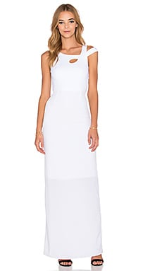 Donna Mizani Cold Shoulder Maxi Dress in White