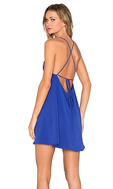 Square Neck Flounce Dress in Lapis