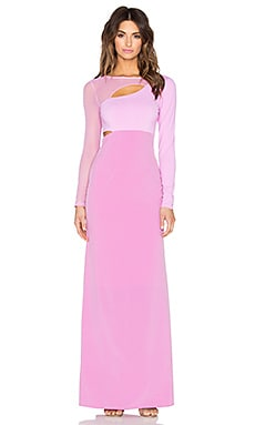 Donna Mizani Cut Out Maxi Dress in Lilac