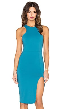 Donna Mizani Racer Front Midi Dress in Teal