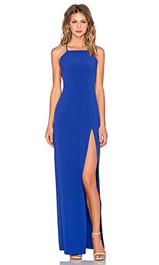 Square Neck Gown in Lapis