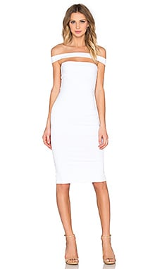 Strapped Midi Dress in White