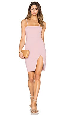 Straight Neck Mini Dress in Rose Quartz