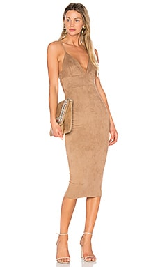 Mara Midi Dress in Mocha