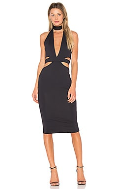 Eden Midi Dress in Black