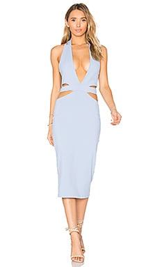 Eden Midi Dress in Powder Blue