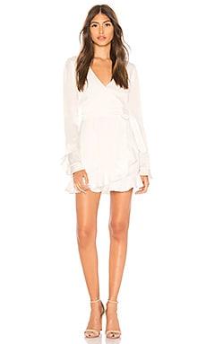 Eliza Mini Wrap Dress Donna Mizani $196
