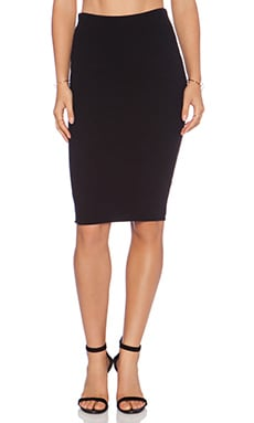 Donna Mizani Midi Skirt in Black