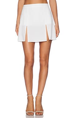 Donna Mizani Mini Slit Skirt in White