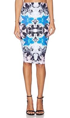 Donna Mizani Iris Midi Skirt in Iris