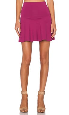 Donna Mizani Mini Flounce Skirt in Berry