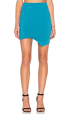 Donna Mizani Crossover Mini Skirt in Teal