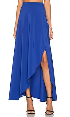 Donna Mizani Wrap Skirt in Lapis