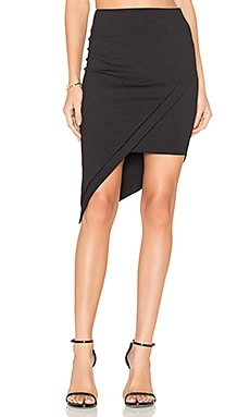 Asymmetrical Skirt in Black