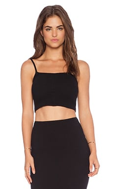 Donna Mizani Cropped Cami in Black