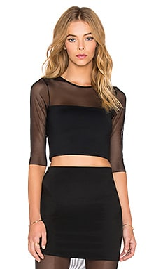 Donna Mizani Banded Crop Top in Black