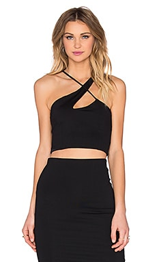 Donna Mizani X Front Crop Top in Black