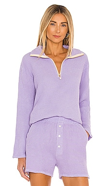 Waffle Half Zip Pullover DONNI. $234