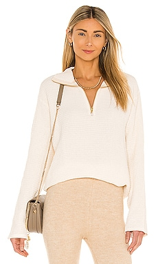 Waffle Half Zip Pullover DONNI. $141