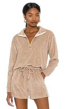 Terry Half Zip Pullover DONNI. $218 NEW