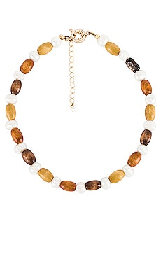 Wood Pearl Choker DONNI. $104 NEW ARRIVAL