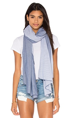 Diagonal Scarf en Denim & Blue Mini Stripe