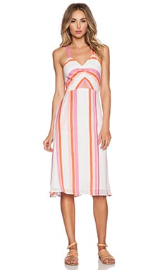d.RA Birch Dress in Carnival Stripe
