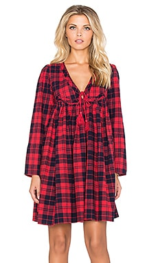 d.RA Hawke Dress in Red Plaid