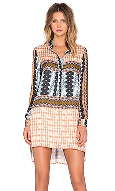 d.RA Heze Dress in Peach Multi Tribal