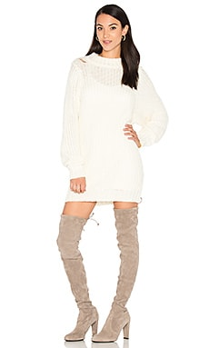 Lanie Sweater Dress in Creme