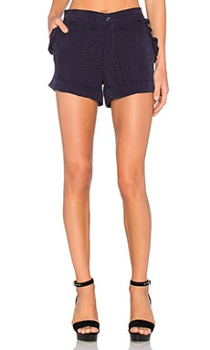 Dakota Ruffle Short en Azul Medianoche