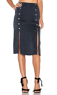 Kylie Midi Skirt in Navy