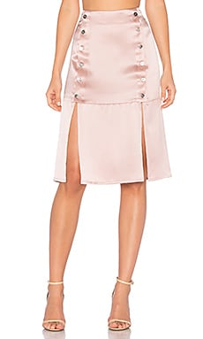 Kylie Midi Skirt in Rose