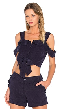 DREAM Haley Tie Top in Midnight Blue