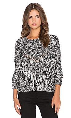 Dress Gallery Torsade Sweater in Noir Et Blanc Chine