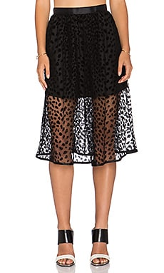 Dress Gallery Tulipe Skirt in Leopard Mesh