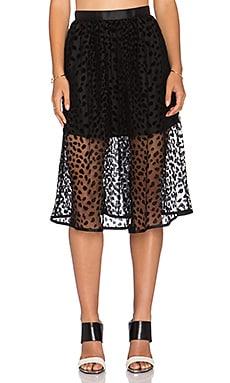 Dress Gallery Tulipe Skirt in Leopard Mesh