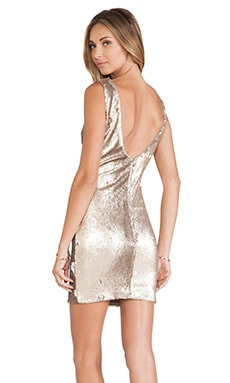 Kim Dress in Gold & Silver Scales