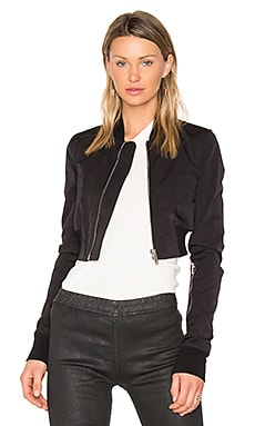 Glitter Flight Bomber Jacket en Noir