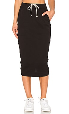 Soft Short Pillar Skirt in Black