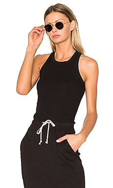 Rib Tank Top in Black