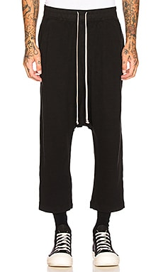 Drawstring Cropped Trouser DRKSHDW by Rick Owens $405