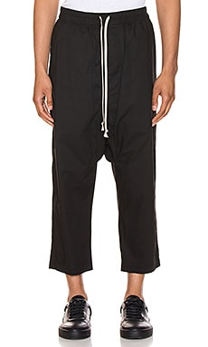 Drawstring Cropped Pants DRKSHDW by Rick Owens $582