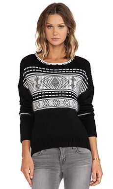 DUFFY Sweater in Black & Cream