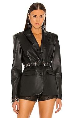 Tailored Leather Blazer DUNDAS x REVOLVE $898